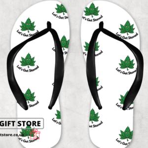 Lets get stoned flip flops