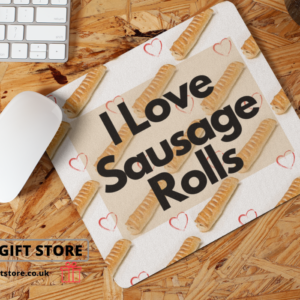 i love sausage rolls mouse mat