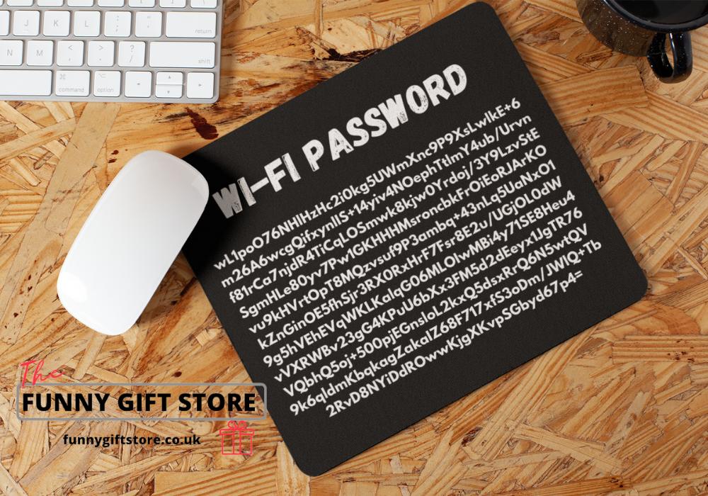 wi-fi password mouse mat